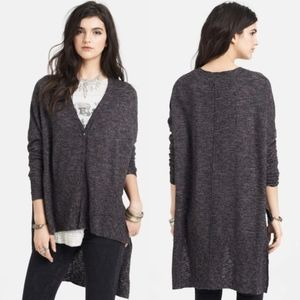 Free People TGIF High Low Marled Cardigan